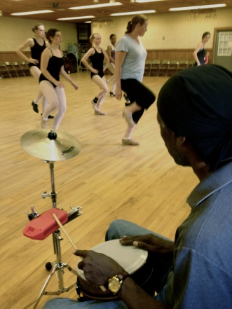 Charles playing for Tap Class